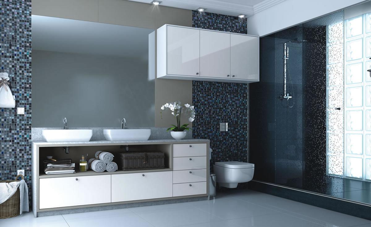 Banheiros Planejados Italínea  Pétala Design  Banheiros Planejados Italínea -> Banheiros Planejados Rj